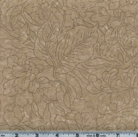 RJR Fabrics Jinny Beyer 2201 1 Khaki Floral Foliage By The Yard