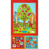 RJR Fabrics Woodland Park 2205 1 Woodland Animal Friends Panel by Panel (not by the yard)