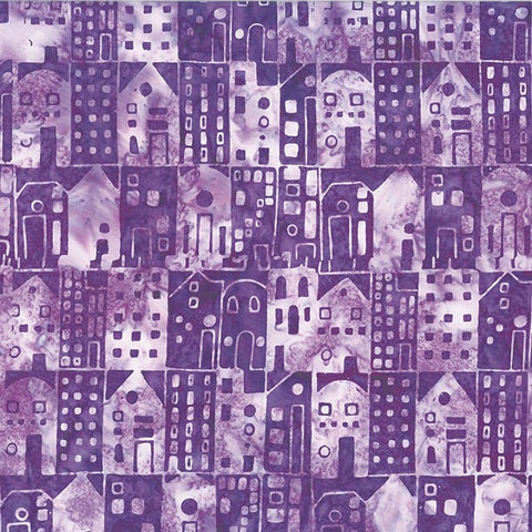Hoffman Batik Royale 2221 45 Grape Houses By The Yard