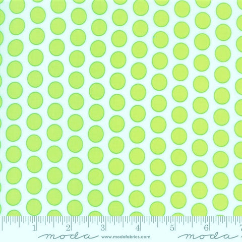 Moda Frolic 22317 12 Spring Green Polka Dots By The Yard
