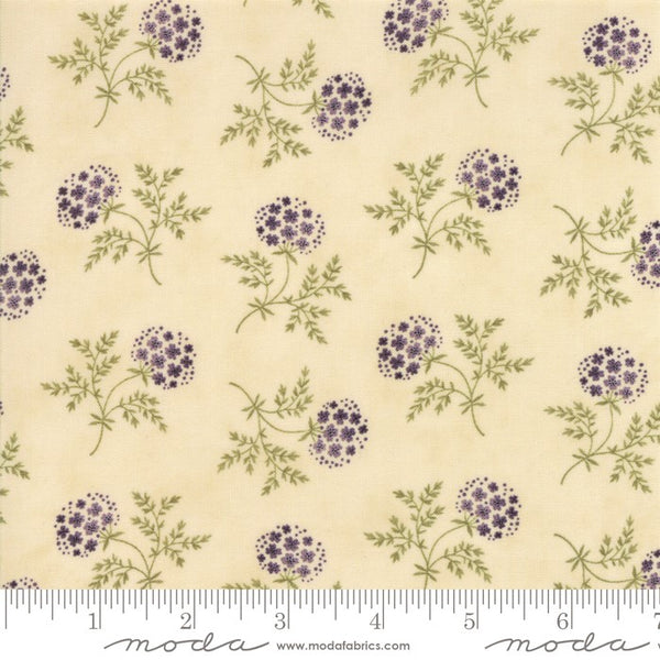 Moda Clover Meadow 2231 11 Ivory Puff Ball Floral By The Yard