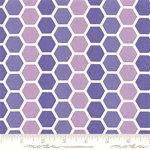Moda Confetti 22322 12 Purple Honeycombs By The Yard