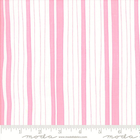 Moda Confetti 22326 11 Pink/White Wonky Stripe By The Yard