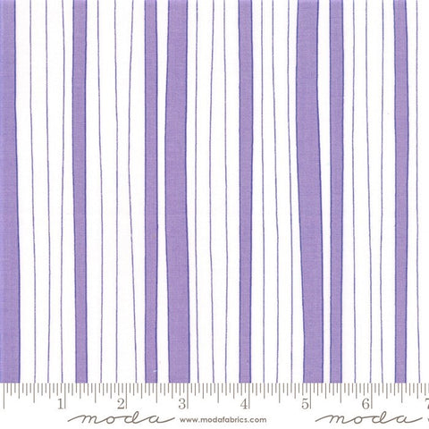 Moda Confetti 22326 12 Purple/White Wonky Stripe By The Yard