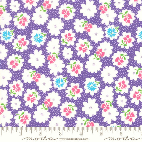 Moda Fiddle Dee Dee 22383 13 Purple Flower Fiddle By The Yard