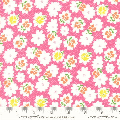 Moda Fiddle Dee Dee 22383 14 Pink Flower Fiddle By The Yard