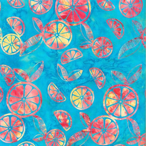 Hoffman Bali Batik 2240 578 Delta Citrus Slices By The Yard