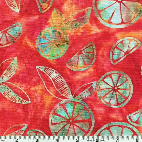 Hoffman Batik Grapefruit 2240 339 Summer Citrus Slices By The Yard