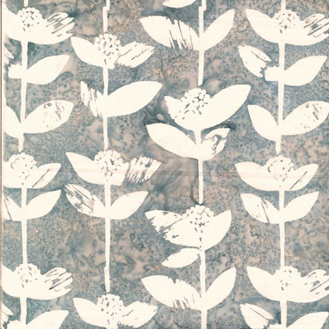 Hoffman Bali Batik 2241 48 Gray Block Flower By The Yard