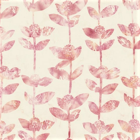 Hoffman Bali Batik 2241 493 Pink Lemonade Block Flower By The Yard, Coordinates with Spring Forward