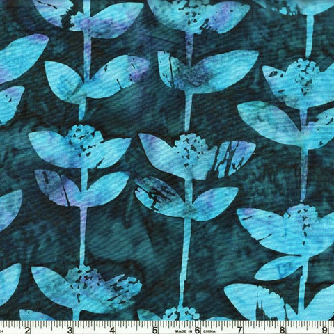 Hoffman Bali Batik 2241 229 Wisteria Block Flower By The Yard