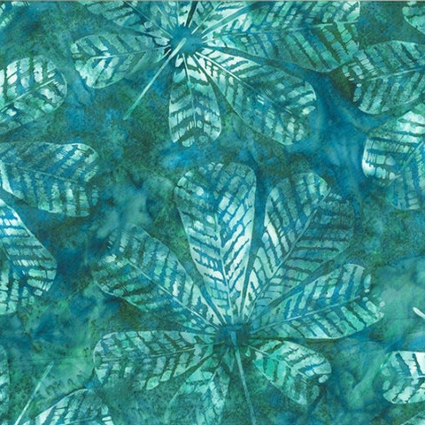 Hoffman Bali Batik 2250 577 Bayou Textured Big Leaf By The Yard