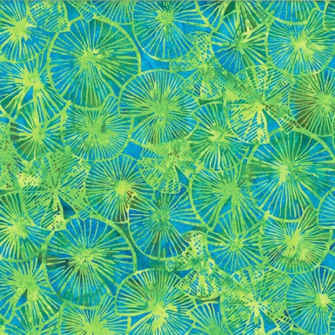 Hoffman Bali Batik 2251 271 Parakeet Textured Lily Pads By The Yard