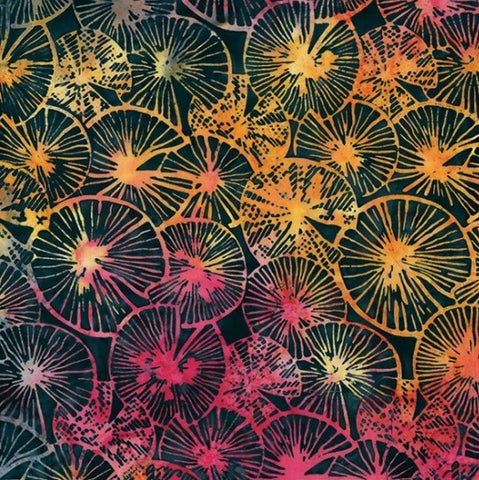 Hoffman Batik Twilight Bay 2251 440 Liquorice Textured Lily Pads By The Yard