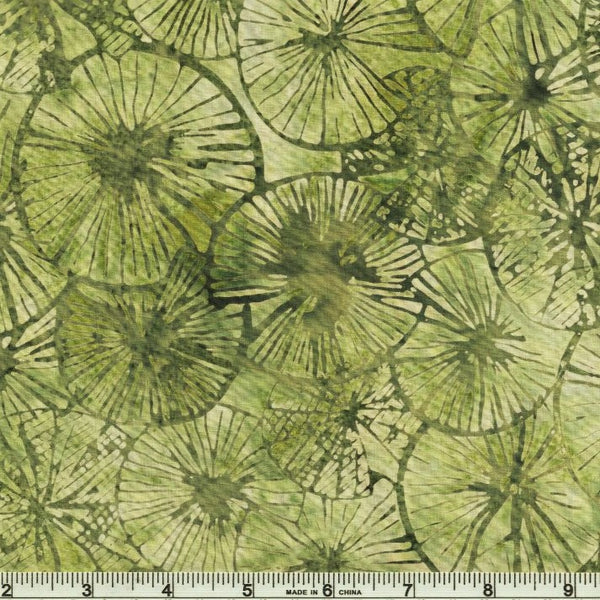 Hoffman Bali Batik 2251 548 Balsam Textured Lily Pads By The Yard