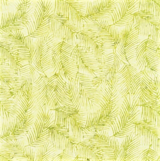 Hoffman Bali Batik 2255 413 Watercress Fringe Leaf By The Yard