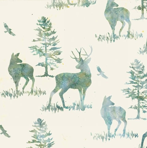 Hoffman Bali Batik 2256 536 Aquarius Deer By The Yard