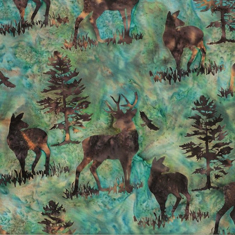 Hoffman Bali Batik 2256 58 Earth Deer By The Yard