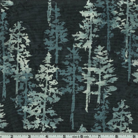 Hoffman Bali Batik 2258 654 Dark Gray Forest By The Yard