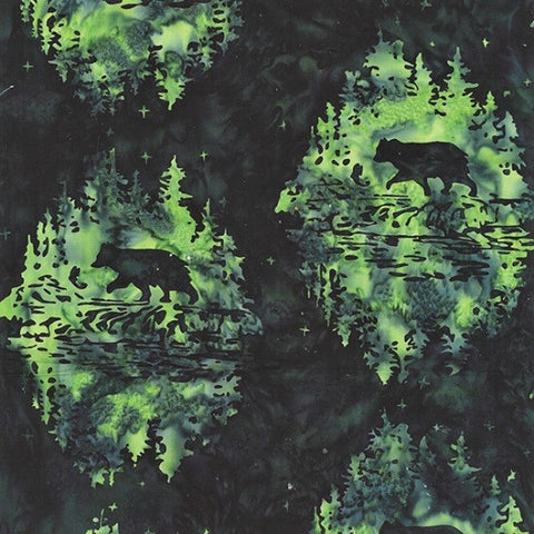 Hoffman Bali Batiks 2259 377 Spinach Bear By The Yard