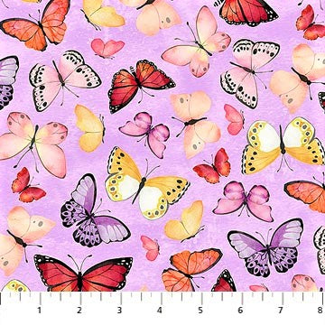 Northcott April Showers 22594 81 Butterflies Beautiful Lavender By The Yard