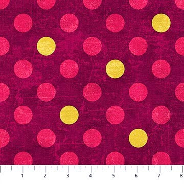 Northcott Spot On 22597 26 Sangria Medium Dots By The Yard