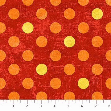 Northcott Spot On 22597 58 Hot Sauce Medium Dots By The Yard