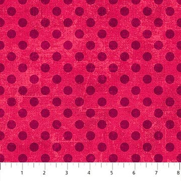 Northcott Spot On 22598 22 Lipstick Small Dots By The Yard