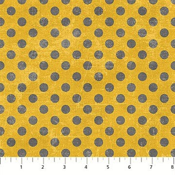 Northcott Spot On 22598 53 Mustard Small Dots By The Yard