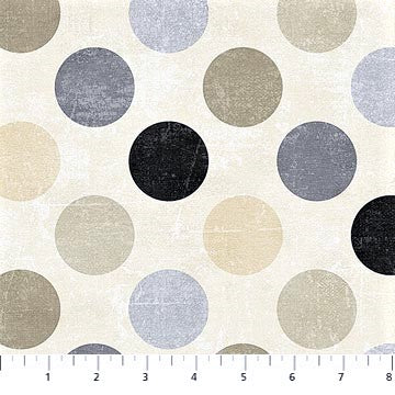 Northcott Spot On 22606 11 Neutral Large Dots By The Yard