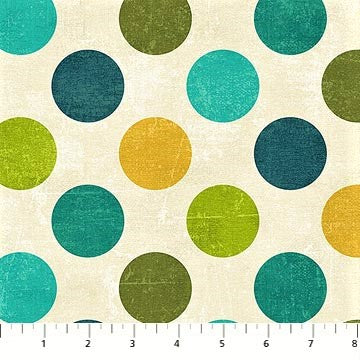 Northcott Spot On 22606 62 Dk. Aqua Large Dots By The Yard