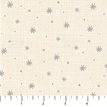 Northcott Winterland 22791 11 Cream Winterland Snow By The Yard