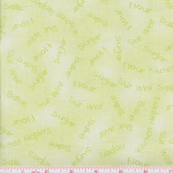 Quilting Treasures Kitchen Helpers 22801 Green Kitchen Quotes by the yard