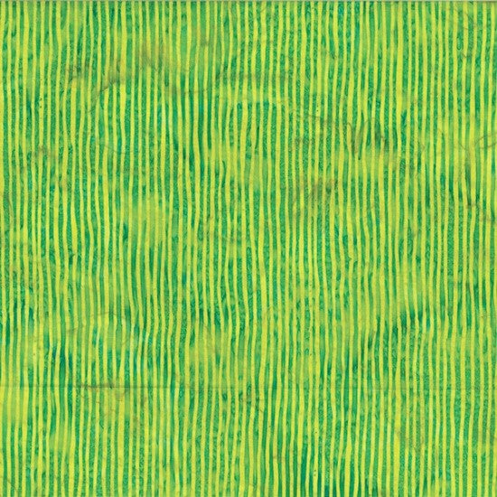 Hoffman Bali Batik Skinny Stripes 2284 F71 French Lime By The Yard