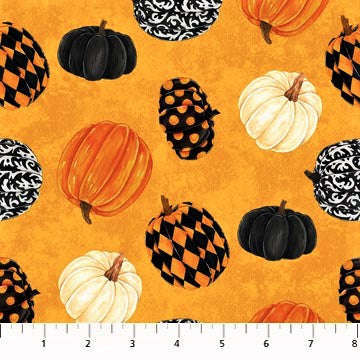 Northcott Raven's Claw 22862 54  Orange Pumpkin Play By The Yard