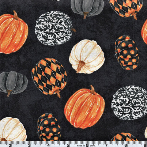 Northcott Raven's Claw 22862 99 Black Pumpkin Play By The Yard