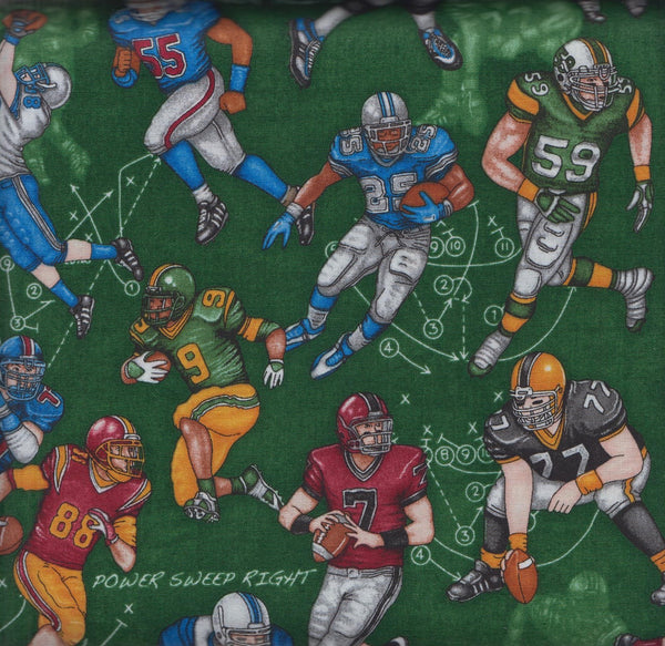 RJR Dan Morris The Whole 9 Yards 2288 2 Football Players on Green by the yard