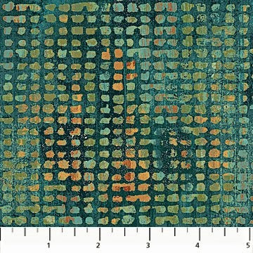 Northcott Reflections 22952 66 Teal Multi Grid By The Yard
