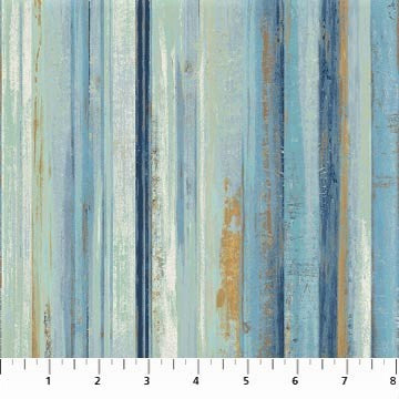 Northcott Reflections 22953 42 Blue Multi Water Stripe By The Yard