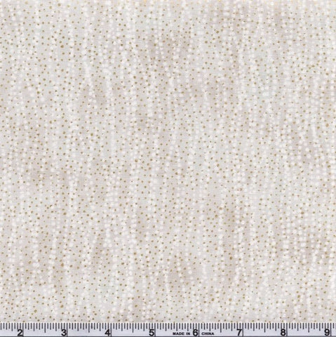 Northcott Metallic Fantasia 22963 92 Lt. Taupe Gray Dotted Wave By The Yard