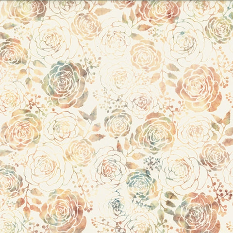 Hoffman Batik Sand & Surf 2297 289 Off White Camelia By The Yard