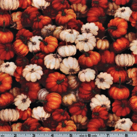 RJR Autumn Romance 2300 1 Orange Pumpkins By The Yard
