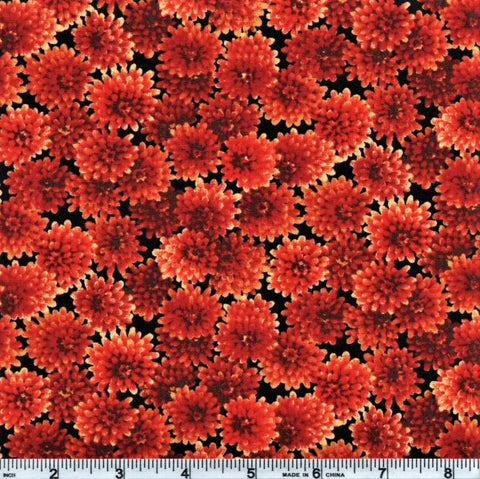 RJR Autumn Romance 2302 2 Orange Flowers By The Yard