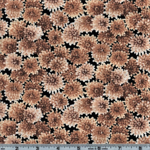 RJR Autumn Romance 2302 4 Tan Flowers By The Yard