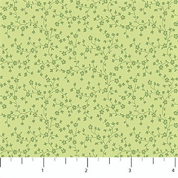 Northcott Chelsea 23063 72 Pale Green Floral Trail By The Yard