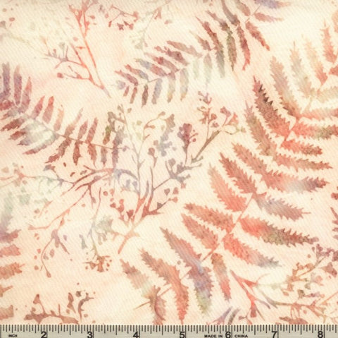 Hoffman Batik Ladies In Lilac 2313 20 Natural Fern & Twig By The Yard