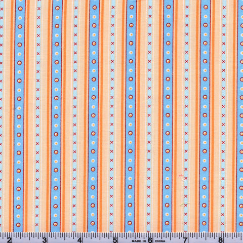 RJR Fabrics Prairie Yard Goods 2317 2 Alice's Choice Stripe By The Yard