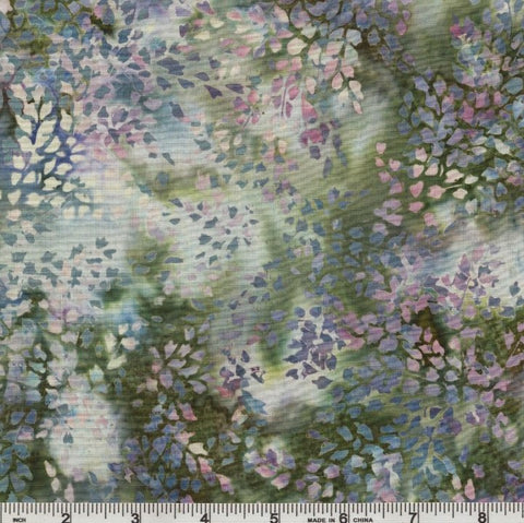 Hoffman Batik Ladies In Lilac 2324 649 Thistle Ditsy Branch By The Yard