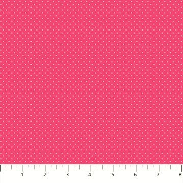 Northcott Botanica 23292 22 Pink Swiss Dot By The Yard