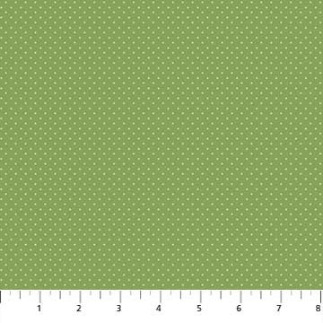 Northcott Botanica 23292 74 Green Swiss Dot By The Yard